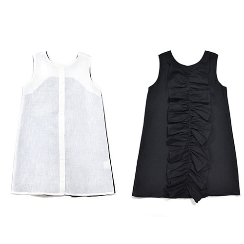 Stego dress : white black